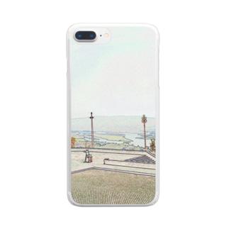 CG絵画:ヴィアナ・ド・カステロの風景画 CG art: Rio Lima / Viana do Castelo Clear smartphone cases
