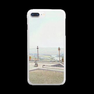 FUCHSGOLDのCG絵画:ヴィアナ・ド・カステロの風景画 CG art: Rio Lima / Viana do Castelo Clear smartphone cases
