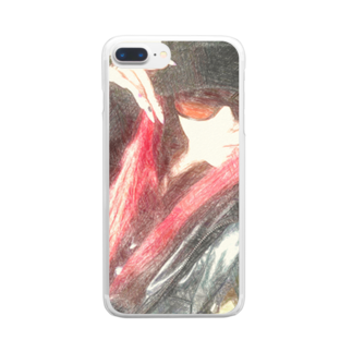 Lost'knotの中ノ紅イ人間 Clear smartphone cases