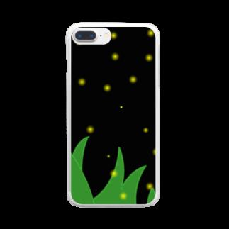 アトリエみやまの螢 Clear smartphone cases