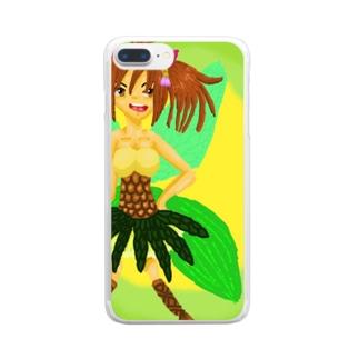 トロピカルフェアリーズ【パイン】 Clear smartphone cases