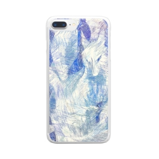 Blue nine-tailed fox Clear smartphone cases