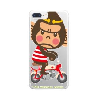 """ドングリ頭のチンパンジー""""Monkey"""" Clear smartphone cases"""