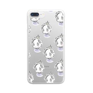 ちびのぶシリーズ B Clear smartphone cases