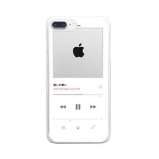 推しが尊いケース Clear smartphone cases