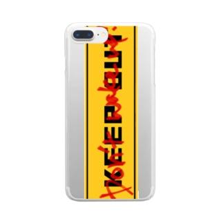 起こすな Clear smartphone cases