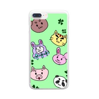 わたげ山のくま田べあ吉 Clear smartphone cases