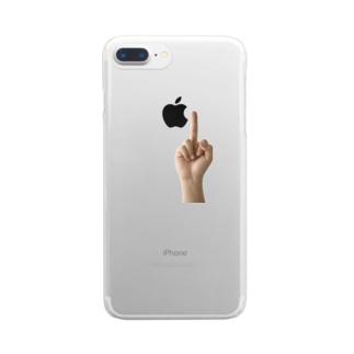 中指 Clear smartphone cases