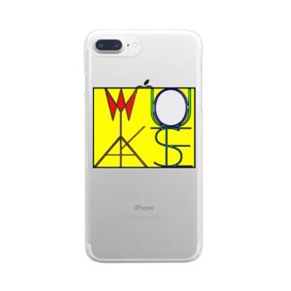 松明と鏡 色付きver Clear smartphone cases