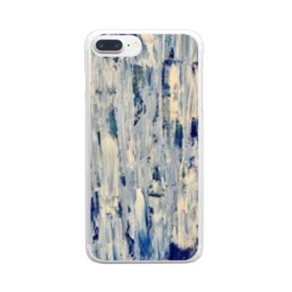 青の逆襲 Clear smartphone cases
