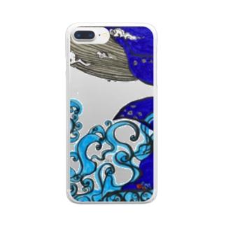 ソラを游ぐクジラ Clear smartphone cases