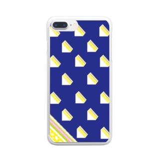 サンドイッチ 青 Clear smartphone cases