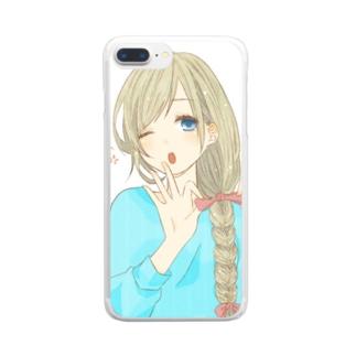 りぼん Clear smartphone cases