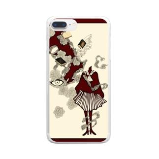 真っ赤な青春 Clear smartphone cases
