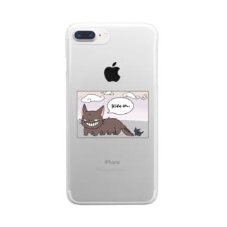 くらげののってけ! Clear smartphone cases