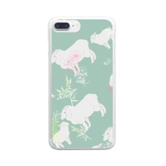 春のひつじ Clear smartphone cases