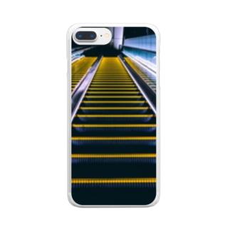 エスカレーター Clear smartphone cases