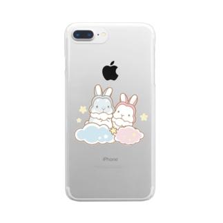 うさみみさんの夢 Clear smartphone cases