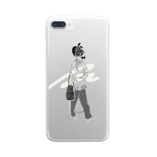 今日はどこへ行こう Clear smartphone cases