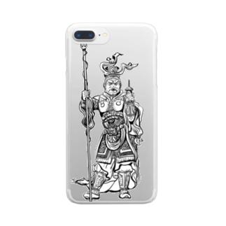 毘沙門天 Clear smartphone cases