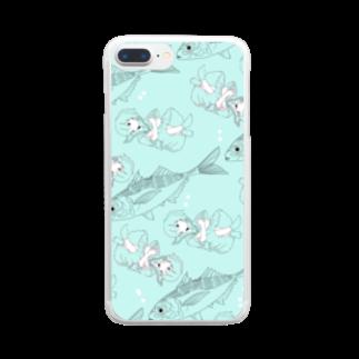 天かす✨の流されちゃう~っ Clear smartphone cases