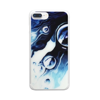 floating noir Clear smartphone cases