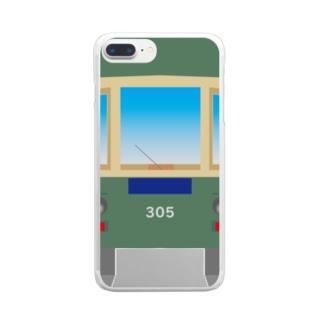 江ノ電305 Clear smartphone cases
