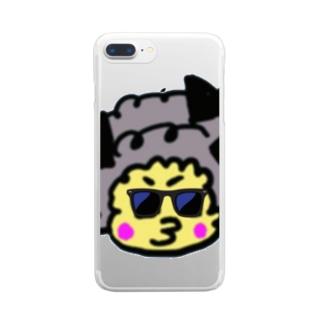 あふろのまさ坊 Clear smartphone cases