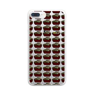 一人ぼっちの吉田のうどん Clear smartphone cases