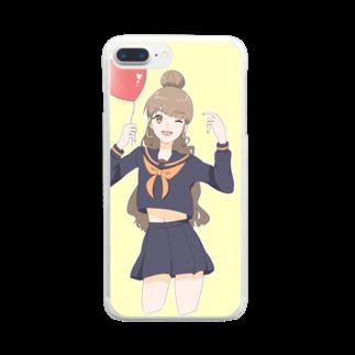 luna_nekomiのJKの日常 Clear smartphone cases