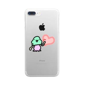 ハートタッチコペトン Clear smartphone cases
