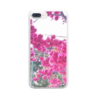 フリルな桜 Clear smartphone cases