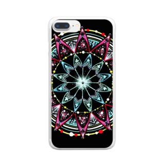 聖夜﹣点描曼荼羅 Clear smartphone cases