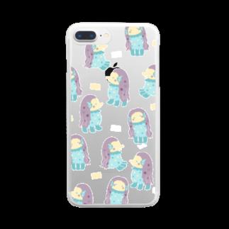 すずきいときちのアマビエ様クリア Clear smartphone cases