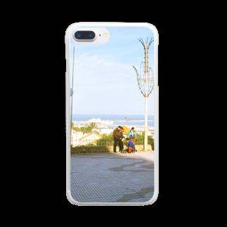 FUCHSGOLDのモロッコ:タンジェの風景 Morocco: Tanger / Tangier Clear smartphone cases