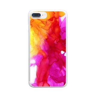 流春_ver.1 Clear smartphone cases