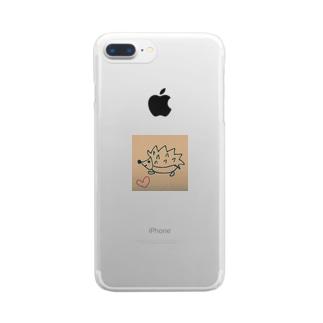 幸せハリネズミ Clear smartphone cases