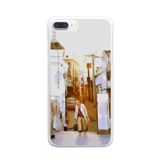FUCHSGOLDのCG絵画:タンジェの風景画 CG art: Tanger / Tangier Clear smartphone cases