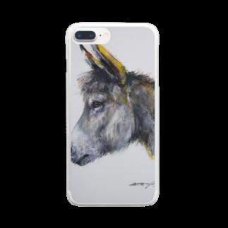永久凍土の国の白夜のまるでウサギ! Clear smartphone cases
