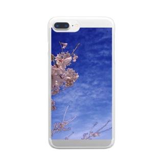 桜 サクラ cherry blossom DATA_P_093 Clear smartphone cases