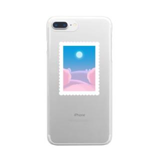 春の夜 Clear smartphone cases