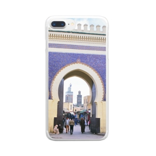 モロッコ:フェズの城門 Morocco: Gate of Fez / Fès Clear smartphone cases