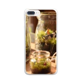 苔テラリウム グッズ Clear smartphone cases