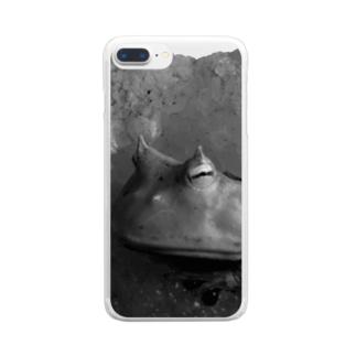 巌窟王の蛙 Clear smartphone cases
