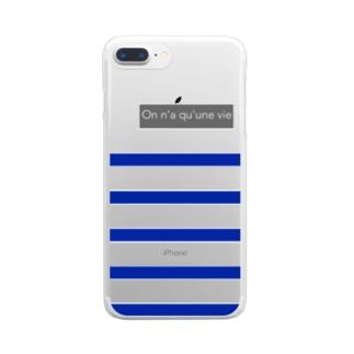 パネルボーダー Clear smartphone cases
