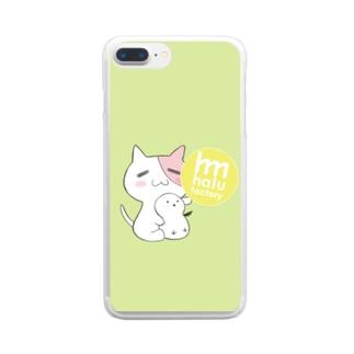 ともにゃんシマエナガスマホケース Clear smartphone cases