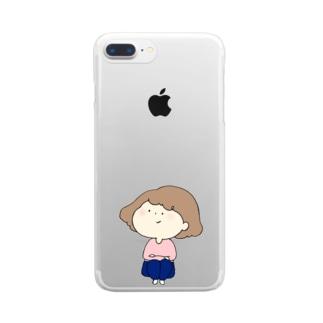 待ちぼうけのんちゃん Clear smartphone cases