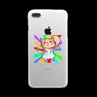 きりたんぽのアイドル猫 Clear smartphone cases