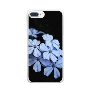 青い花 Clear smartphone cases