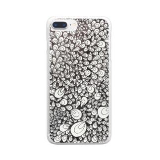 牡蠣、色を纏えば孔雀 Clear smartphone cases